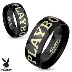Jewelry - Playboy Laser Etched Stainless Steel Men's Ring